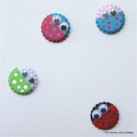 bottle cap crafts for bug magnet craft with bottle caps