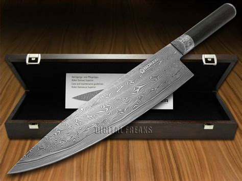 boker kitchen knives boker tree brand superior damascus kitchen cutlery grenadill wood chef s knife ebay