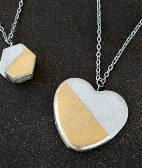 how to make concrete jewelry diy concrete necklace recipe creative
