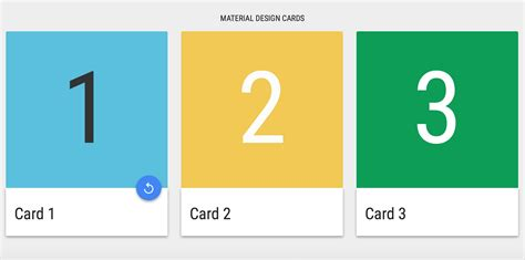 card materials for a card 10 material design cards for web in css html