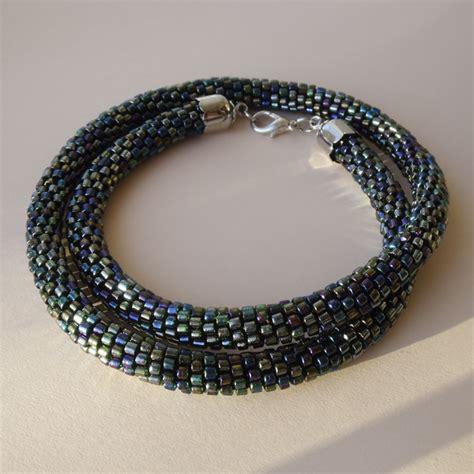 crochet bead necklace bead crochet necklace by borysbrytva on deviantart