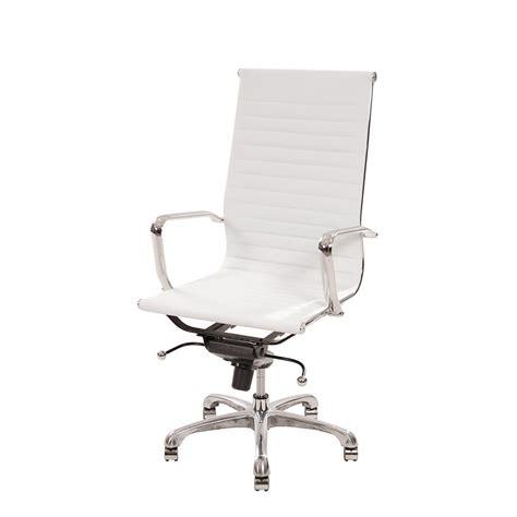 black and white desk chair watson white high back desk chair el dorado furniture