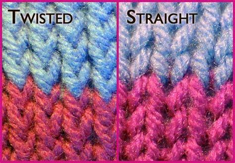 twisted knitting stitches twisted rib