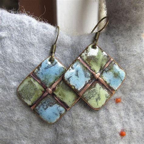 how to make copper enamel jewelry copper enamel earrings earrings