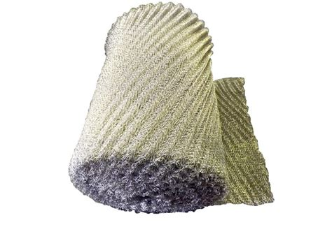 knitted wire mesh cleaning pads and covers industrial sewing