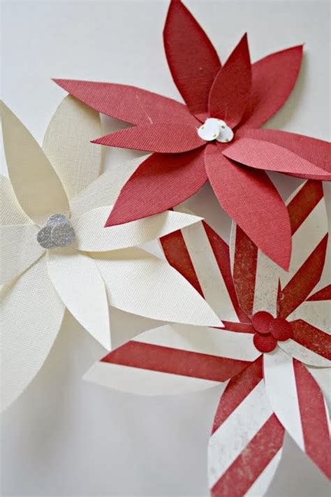 poinsettia paper craft paper poinsettia ornament tutorial u create