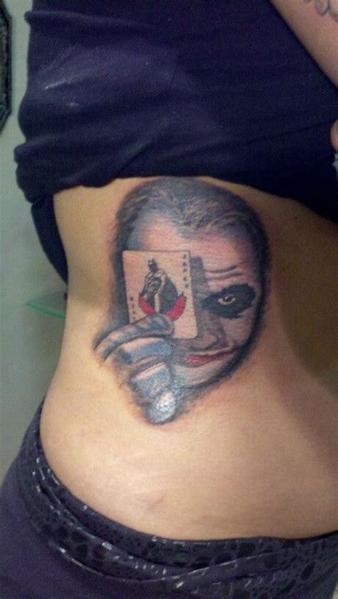 heath ledger joker tattoo batman tattoos by joey ellison
