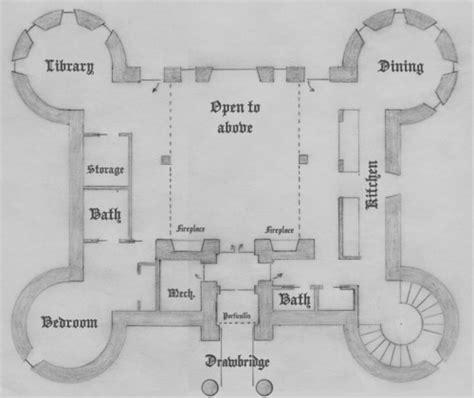 Tudor Floor Plans first floor four tower plan
