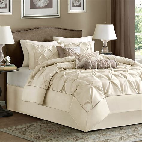 home bedding sets ivory bed bag luxury 7 pc comforter set cal king