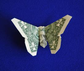 dollar bill butterfly origami origamido money origami kit