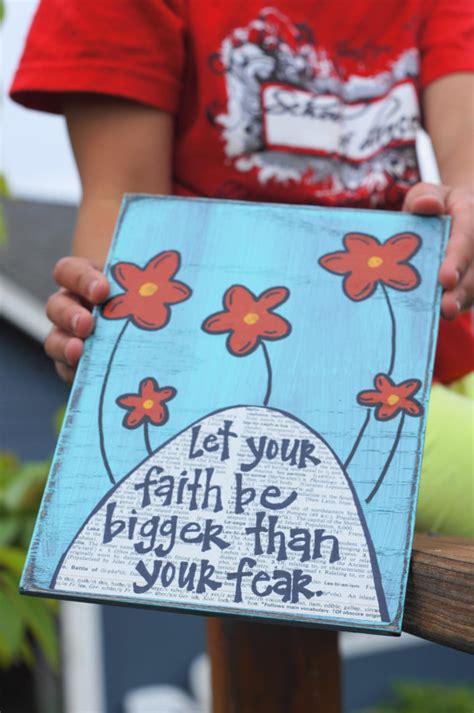 faith craft for let your faith be bigger than your fear handmade card