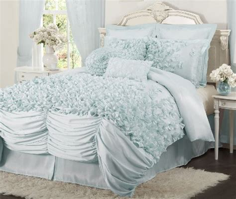 ruffle bedding sets blue ruffle bedding sets