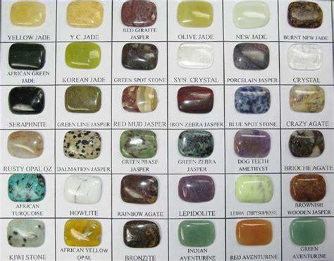 semi precious gemstone sle gemstone identification chart gems