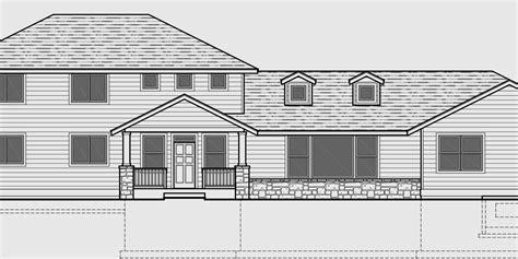 Main Floor Master Bedroom House Plans master bedroom on main floor side garage house plans 5
