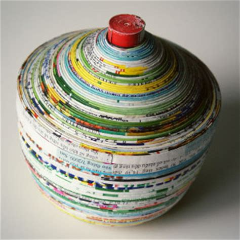 magazine paper crafts magazine paper dish and lid allfreepapercrafts