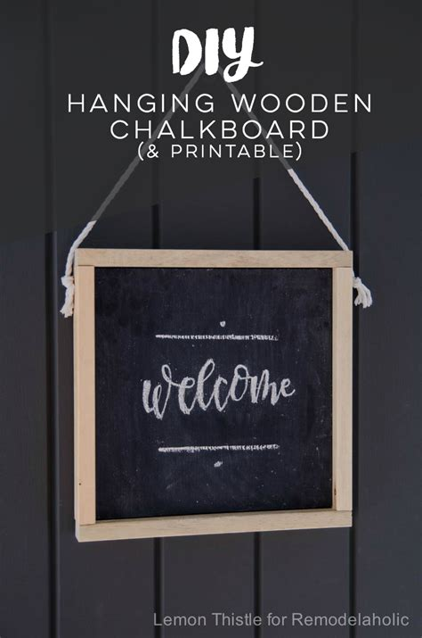 diy chalkboard sign template remodelaholic how to make your own wooden chalkboard