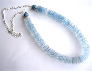 plastic jewelry recycled plastic bottle blue necklace upcycled jewelry