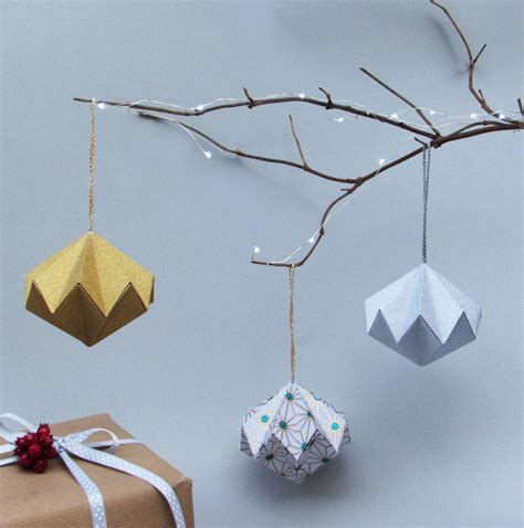 metallic origami paper metallic origami paper ornament by the origami
