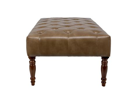 brown leather cocktail ottoman brown leather cocktail ottoman furniture tufted