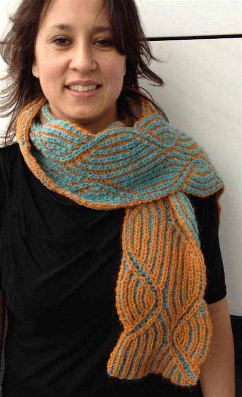2 color knit scarf pattern 6 inspiring reversible two color brioche stitch knitting