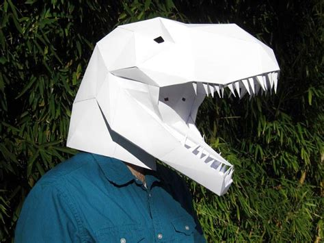Papercraft Mask The Diy Paper Masks Of Dinosaurs And