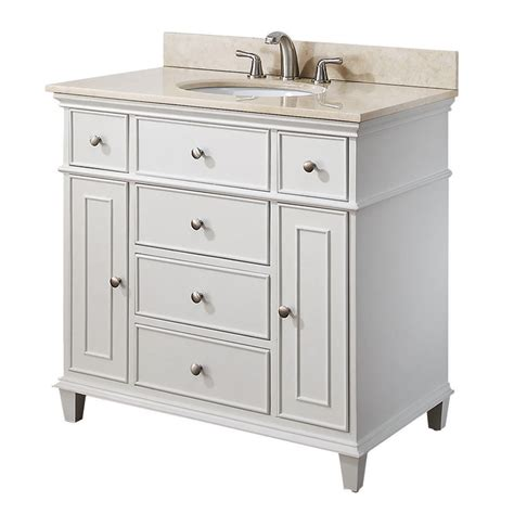 36 Bathroom Vanity Cabinet Avanity 36 Inch White Traditional Single Bathroom Vanity V36 Wt At