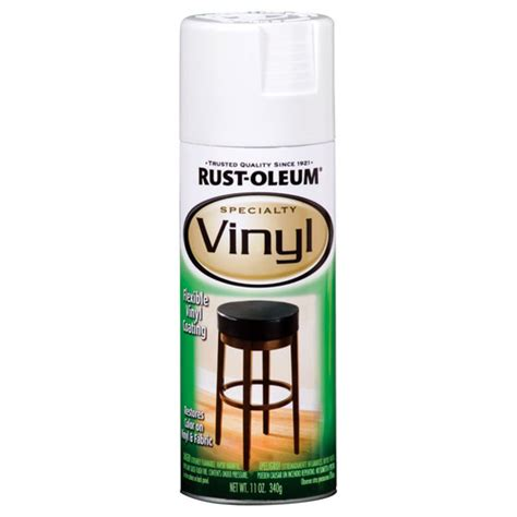 Rustoleum 11 Oz White Vinyl Specialty Spray Paint 1911 830