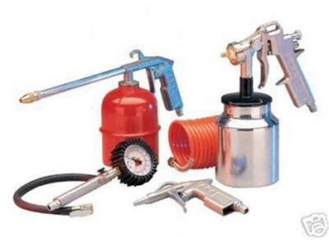 spray painting tools and equipment 5pc air tool set kit spray paint paraffin gun for