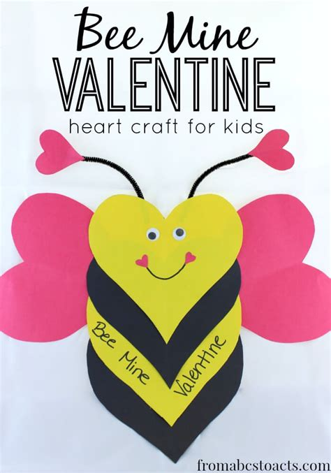 for valentines bee mine craft for from abcs to acts