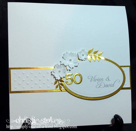 golden wedding cards to make simply one of a another golden wedding card