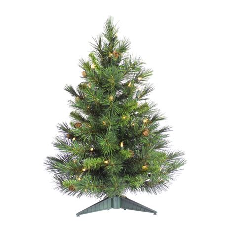 3 foot trees 3 foot cheyenne pine tree all lit lights a801004
