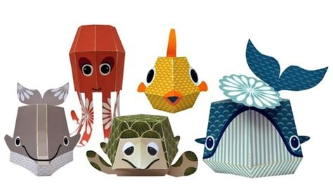paper crafts animals adorable printable papercraft animals and easy to