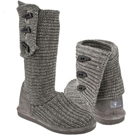 bearpaw knit boots grey bearpaw knit gray 658w 055 s