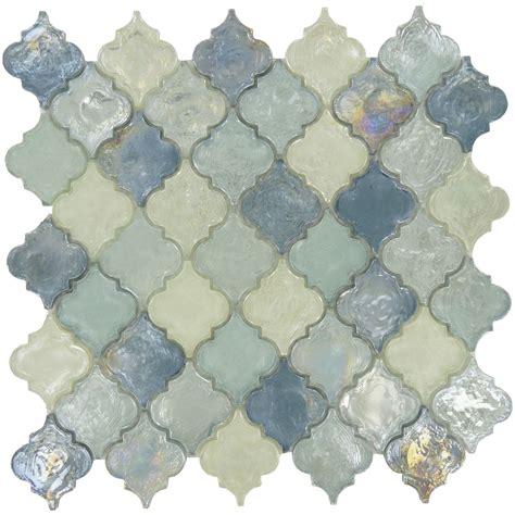 Brick Tile Backsplash Kitchen iridescent arabesque tile blue glass tile backsplash