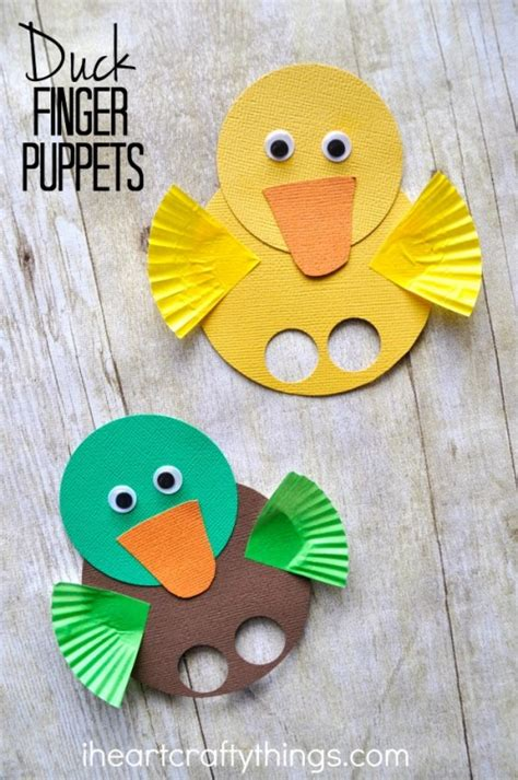 duck crafts for adorable duck finger puppets i crafty things