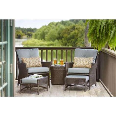 conversation set patio furniture hton bay blue hill 5 patio conversation set with