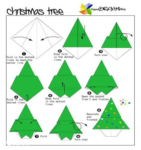 origami paper tree tree kerstvouwen tree
