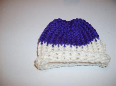 loom knit newborn hat baby loom knitted hat diy baby