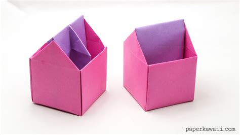 origami in origami toolbox pen pot paper kawaii