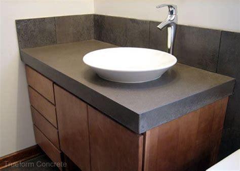 Concrete Vanity Top by Concrete Vanity Top With Vessel Sink Concrete Vanity