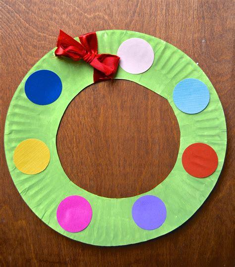 paper plate crafts for paper plate crafts tree and wreath