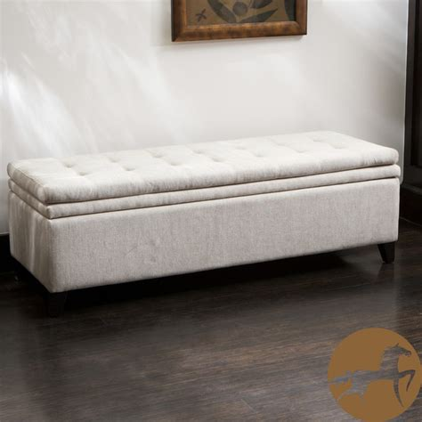 storage ottoman bench bedroom christopher home brighton white linen storage