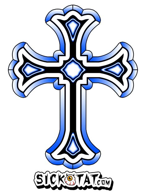 catholic cross in color clipart