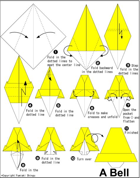 bell origami bell easy origami for