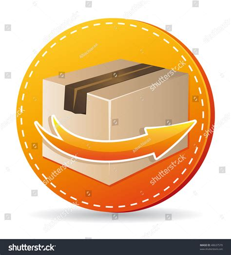 orange delivery orange delivery icon stock illustration 48637570