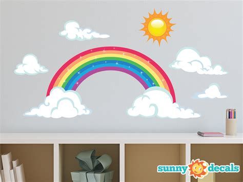 Butterfly Wall Murals rainbow fabric wall decal sparkling rainbow wall decor with