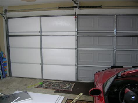 insulation for garage doors living stingy insulating your garage door for cheap