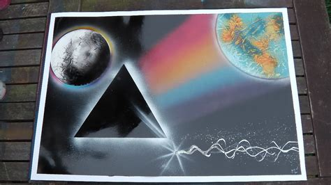 spray paint moon how to how to spray paint pink floyd side of the