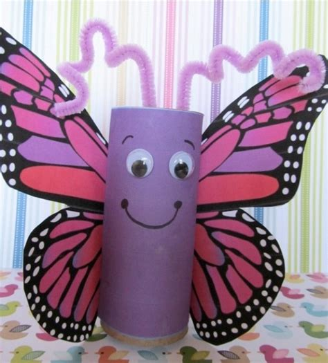 crafts using toilet paper rolls vlinder wc rollen creatief met afval