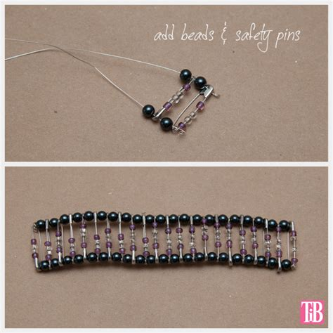 how to make safety pin jewelry diy safety pin bracelet with brooch